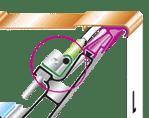 LUMIFLEX 160 - Con luz de cortesía opcional